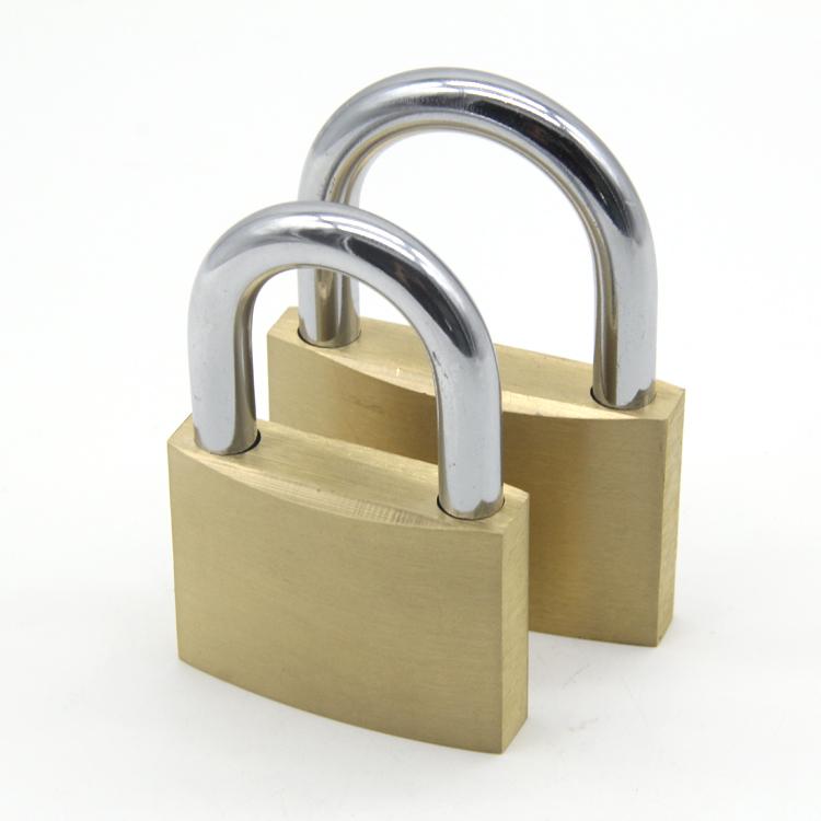 50mm Wide Genuine Tri-Circle Brass Same Key Padlock LARGE Heavy Duty Keyed Alike