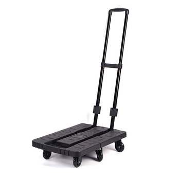 Ningbo hand collapsible platform trucks with free rope 6 wheels folding hand trucks