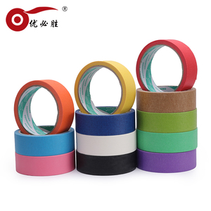 Custom Painting Crepe Printed Colored Paper Automotive Masking Tape Jumbo Roll