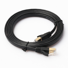 Flat Cat7 Cable Communication Cable Color Code RJ45 Ethernet Cat7 patch cord cable for Computer Gaming <strong>Network</strong>