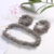 New design secret grey faceted crystal beaded choker necklace