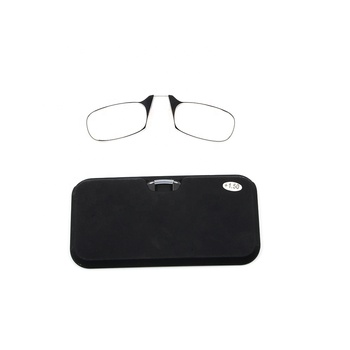 Hot selling Thin eyewear mini wallet design reading glasses without arms