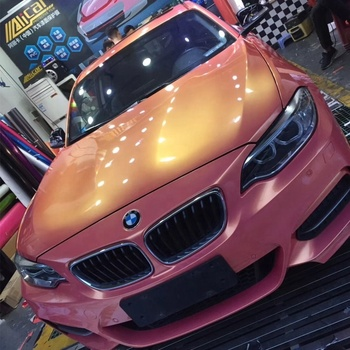 High Quality Self Adhesive Bubble Free Gold Pink Magic Plastic Car Wrap Vinyl Film
