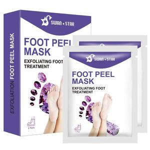 2 Pairs Foot Peel Mask, Natural Moisturizing Lavender Foot Peel Off Mask, Exfoliant Foot Peeling Mask Booties