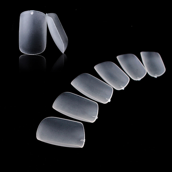 288pcs/bag  High Quality Nails Tip Square/Round False Nail Tips Acrylic Uv Gel Full Cover Tip For Nail Salons