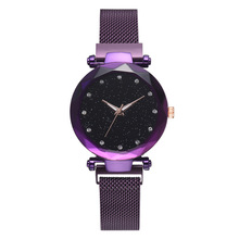 Dropshipping Cheap Luxury Diamond Starry Sky Watch,Fashion Custom Logo Private Label Magnetic Strap Lady Wrist Watch Women