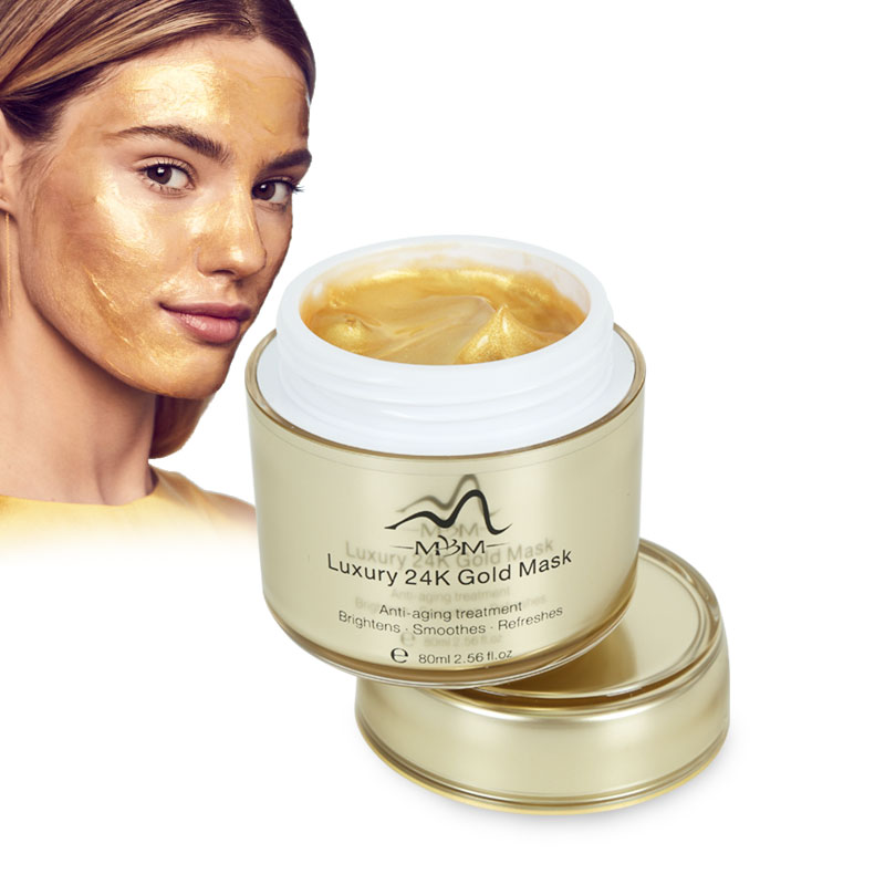 2019 Hot Sell Private Label Luxury Anti Aging Whitening 24K Gold Face Mask