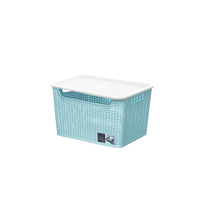Factory wholesale transparent plastic storage basket storage bins sorting box rectangle plastic basket for household