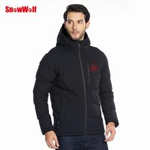 SNOWWOLF 2019 Men Winter Outdoor USB Infrared Hooded Heated Jacket Thermal jacket For Hiking Camping <strong>Sports</strong>