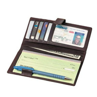 Access Denied Rfid Blocking Pebble Pu Leather Checkbook Covers With Pen Holder, Wholesale Checkbook Covers