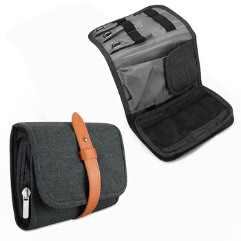 Travel Gadgets Organizer Bag Electronic Accessories Cable Roll Up Pouch Storage Bag