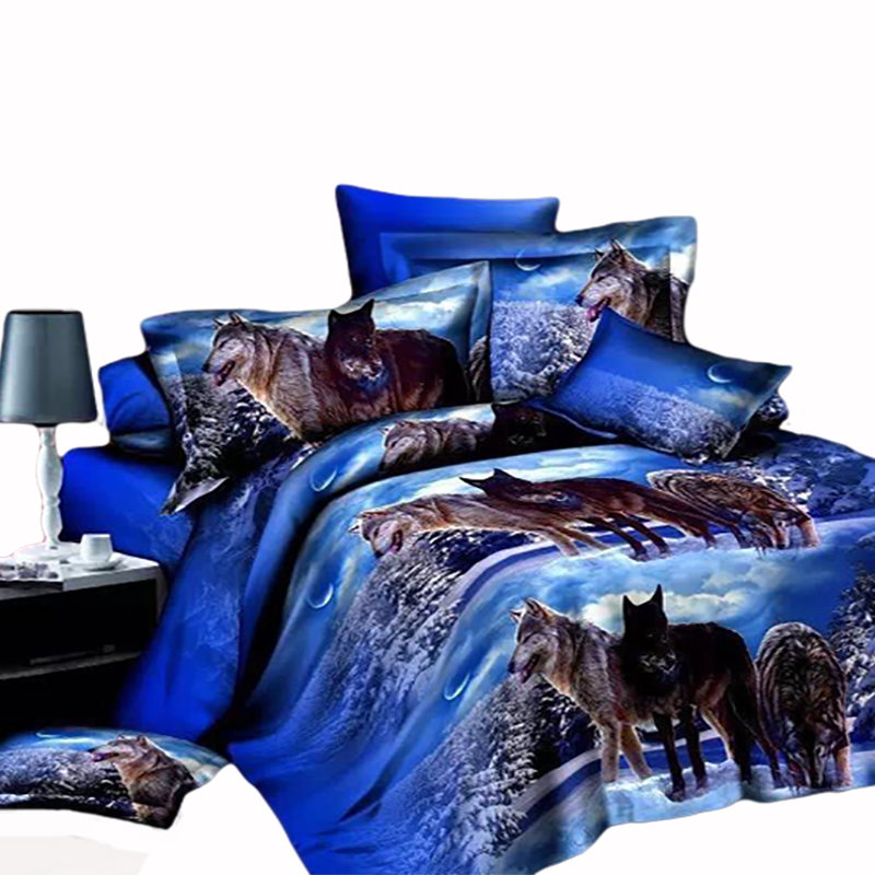 Cheap 4PCS 3D printed bedding set bed sheet 100% polyester douvet cover sets wholesale with China supplier