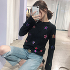 Women wool sweater fringe fashion