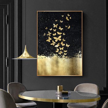 Abstract butterfly acrylic print Crystal porcelain painting