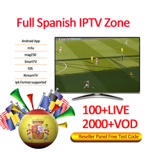 IPTV Reseller Panel Spanish Channels 60 Credits IPTV TV Set Top TV Box <strong>Provider</strong> <strong>100</strong>+LIVE/2000+VOD Reseller Panel Free Test Code