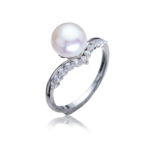 fancy 925 sterling silver original cultural freshwater pearl moti ring fashion new designs for women girls latest finger ring