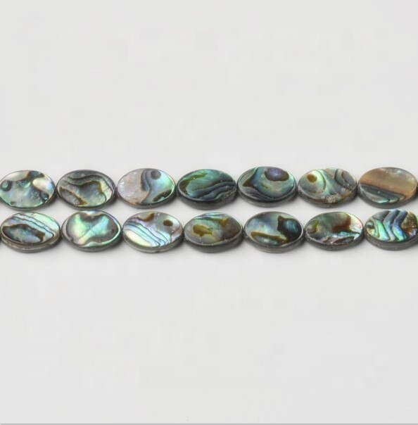 Abalone Shell Plano Oval Beads