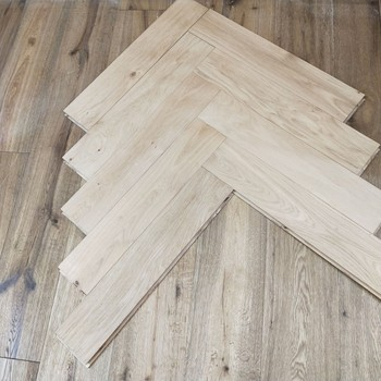 Unfinshed Solid Chevron Parquet Tile