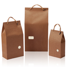 custom <strong>rice</strong> and wheat paper packaging bag with window