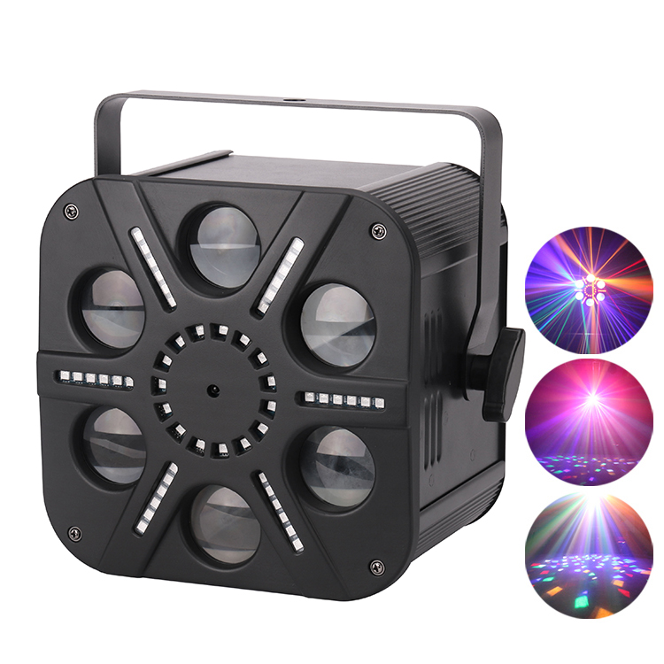 The Stage Lighting factory wholesale 6 eyes R/G/B/<strong>W</strong>/A beam strobe combination led night club stage effect lights