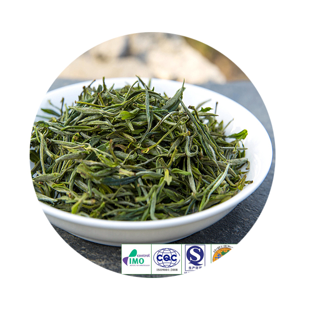 CERES certificate Organic Green Tea Famous Brand And Tasty Huangshan Mao Feng Green Tea