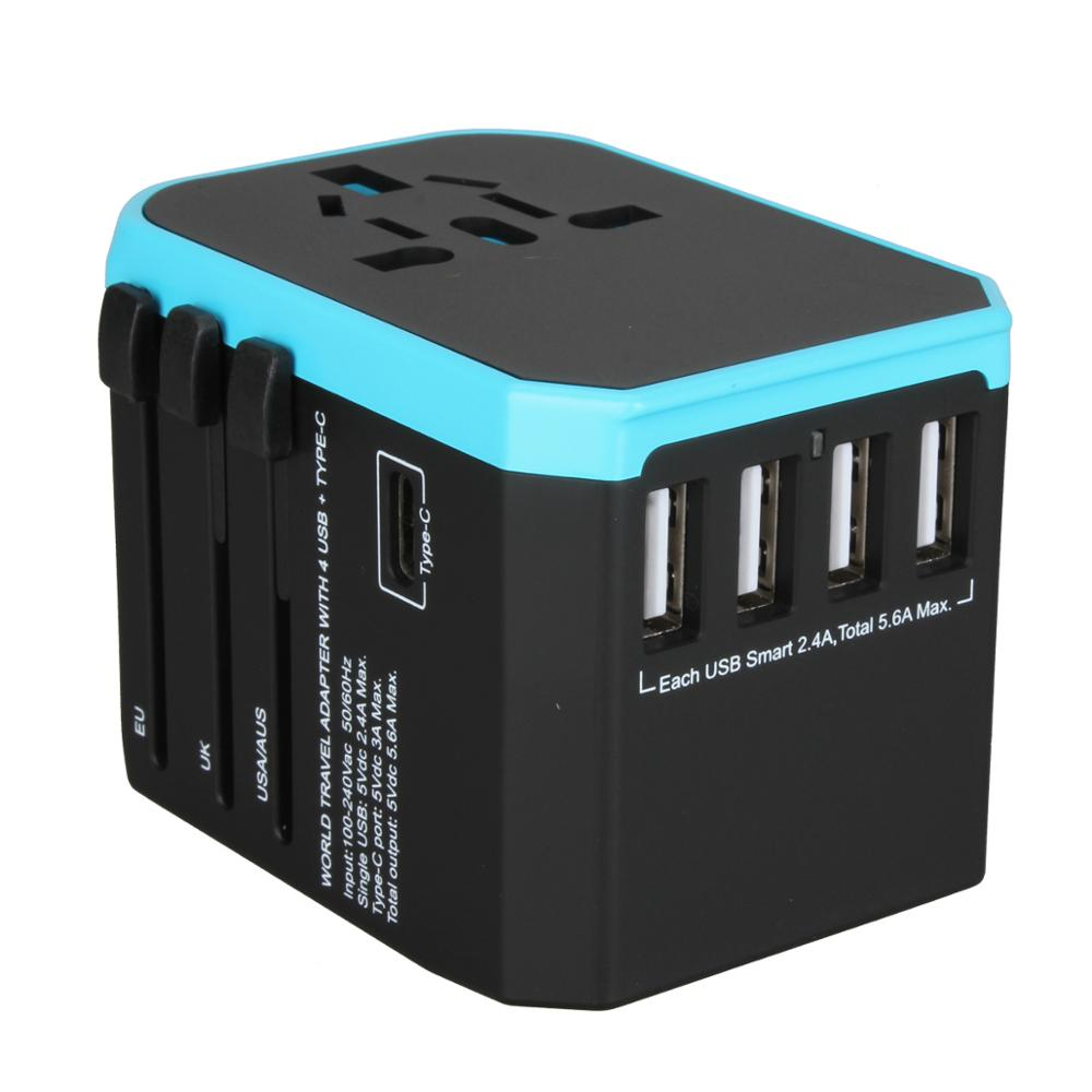 Amazon Hot Sale DC 5V 5.4A 4 USB Type <strong>C</strong> Universal Adaptor Travel Adapter
