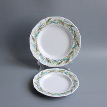 US type melamine tableware <strong>plate</strong>, suitable for gift and restaurant and kitchen Indian Feather Style melamine <strong>plates</strong>