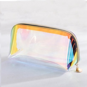 TPU Clear Makeup Bag Laser Eco-friendly Small Tote Cosmetic Bag