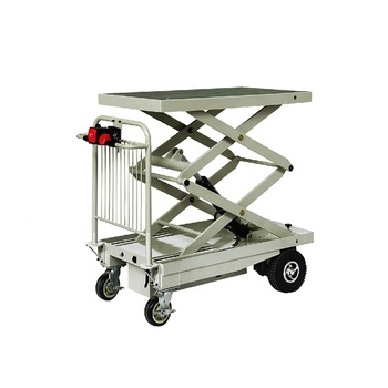 Electric hydraulic scissor lift platform table truck
