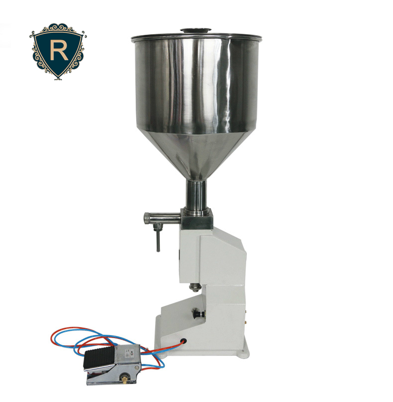 <strong>A02</strong> automatic pneumatic small bottle paste liquid filling machine