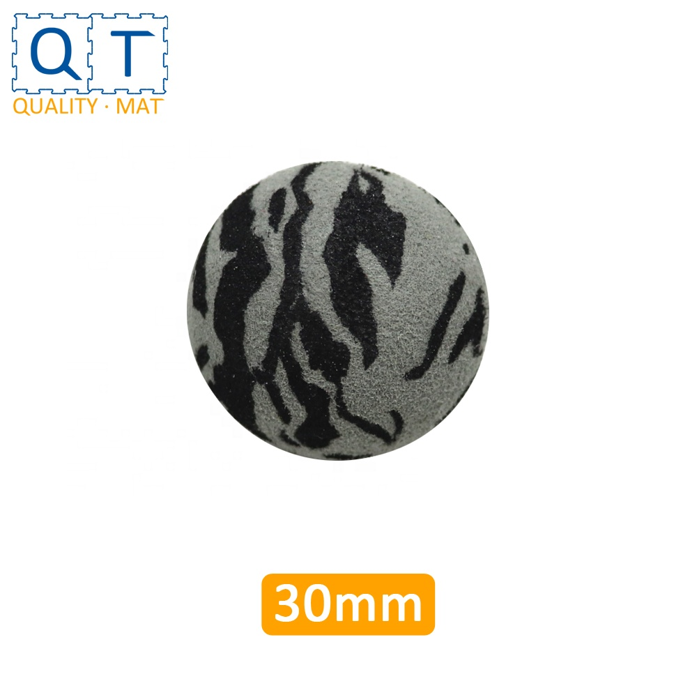 QT MAT Non-toxic Odorless Safe Camouflage Color EVA Small Foam 3cm Missile Toy <strong>Ball</strong>