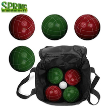 Outdoor Harvil Bocce Palla Set. Include 8 Poli-Balls Resina, 1 Pallino, 1 di Nylon della chiusura Lampo-up Custodia per