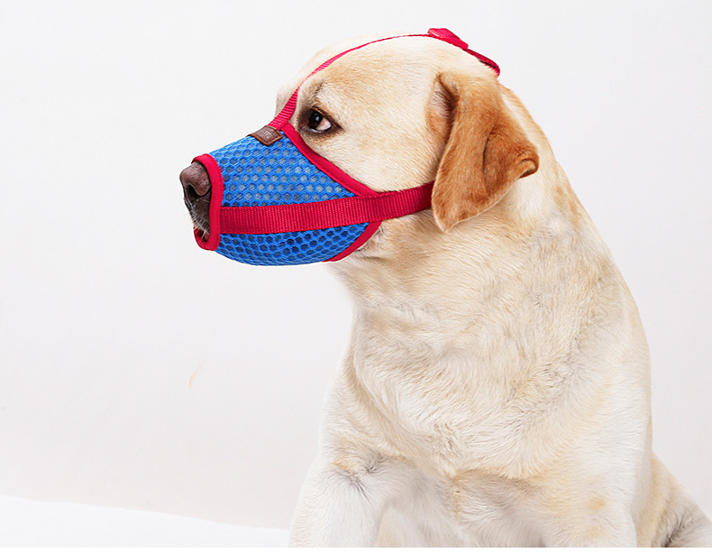New breathable mouth mask for <strong>dog</strong> anti barking eating mesh cloth teddy golden fur mask for pet