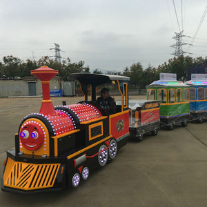Kids rides amusement park electric train trackless tourist train for sale