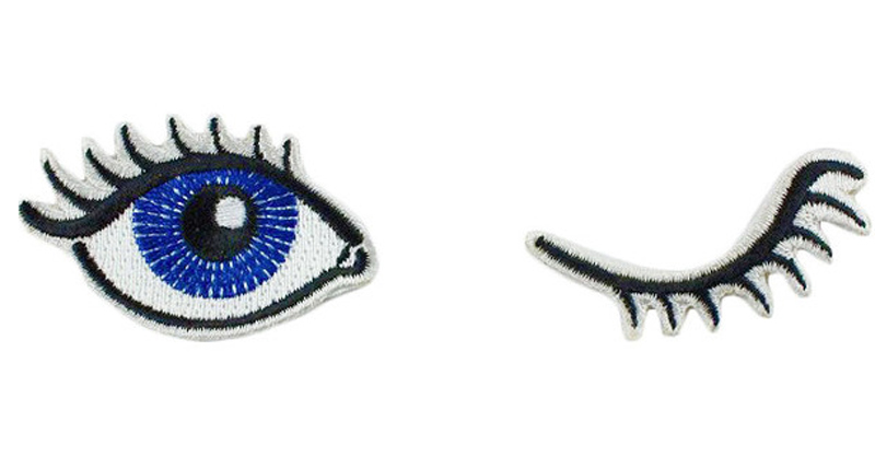 LanLee0822-- Newest Design 3D Embroideried Eye Pattern Patch For Shirts