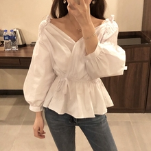 2019 Wholesale <strong>Blouse</strong> Women Summer Short Sleeve Top Ladies Fashion Casual <strong>V-neck</strong> <strong>Blouse</strong>