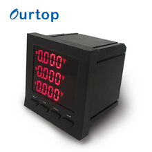 OURTOP 45~65HZ Din Rail Energy Electronic LCD Display Digital Panel <strong>Meter</strong>