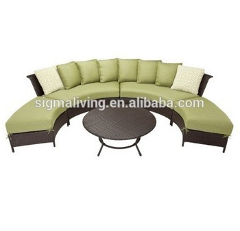 Most popular outdoor furniture garden rattan sectional sofa set for sale
