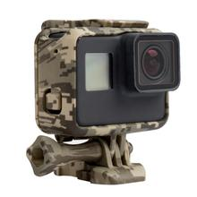 Free Shipping Protective Housing Case Cover Action Camera Camouflage Plastic Protection Border Frame Box for Go Pro Hero 5 <strong>Gopro</strong>