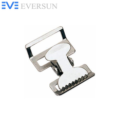 ES10131 Nickle Plated 1.5 inch Military Spring Buckle for Strapping