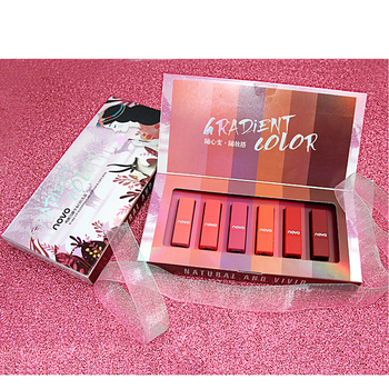 2019 NOVO lipstick 6 sticks combination natural lipstick waterproof matte lipstick set