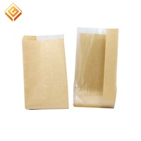Cheap New Coming Disposable Bread Packaging Clear Window Brown Kraft Paper Bags For Bakery
