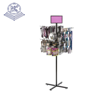 makeup brush metal spinner display rack