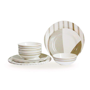 New home products tableware solid wedding plastic environmental protection tableware melamine dinner set