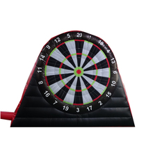 Factory customized foot dart inflatable golf soccer dart board game