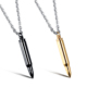 Titanium Steel Men Jewelry, 3 Color Bullet Necklace Pendant, Wholesale Fashion Pendant Necklace Stainless Steel Jewelry