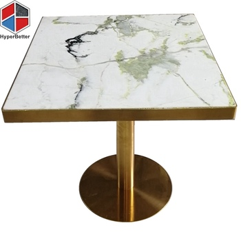 70cm round green white dinning table marble