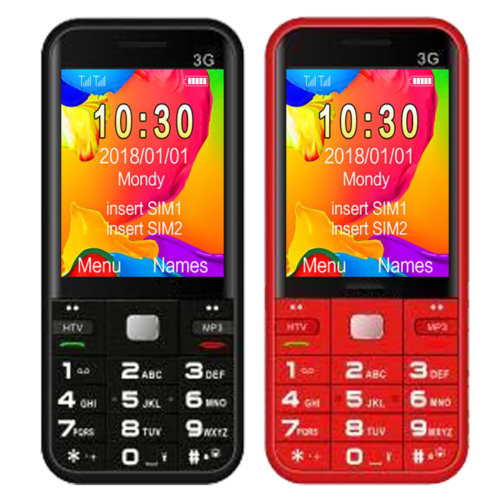 mobile phone elderly 3g 1.77 Inch Screen Dual SIM GSM WCDMA 3G Feature Phone for <strong>D1</strong>