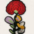 Tina0830 Red Flower Sew On Embroidery Patch for Women Collar,sew patches sale
