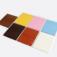 Fireproof and waterproof wood grain fiber cement board for decking